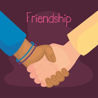 Szczęśliwa karta dnia przyjaźni