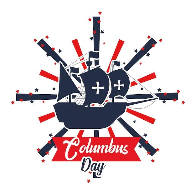 Szczęśliwa karta dzień columbus