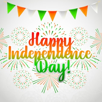 Szczęśliwa karta dzień niepodległości indii