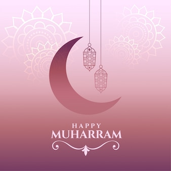 Szczęśliwa karta muharram piękne życzenia