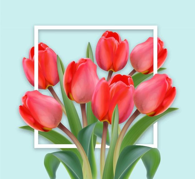 Szczęśliwa karta tulipan dzień matki