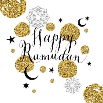 Szczęśliwa karta uroczystość ramadan