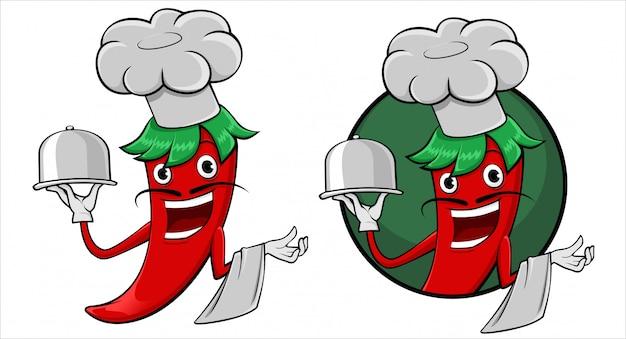 Szczęśliwa klamerki sztuki chili ilustracja