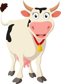 Szczęśliwa krowa kreskówki pozycja