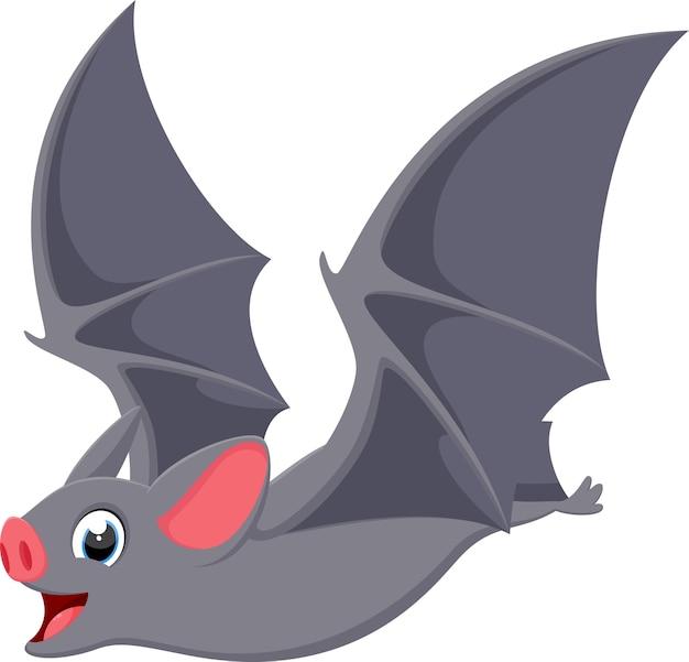 Szczęśliwa latająca nietoperz kreskówka