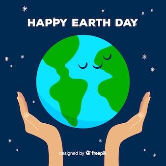Szczęśliwa matka dzień ziemi ręcznie rysowane tła