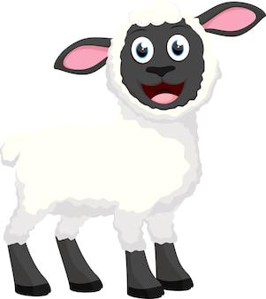 Szczęśliwa owca kreskówka