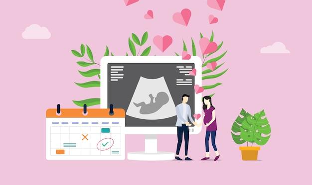 Szczęśliwa para ciążowa lub ciążowa