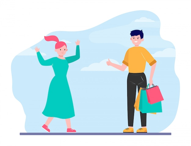 Szczęśliwa para razem zakupy