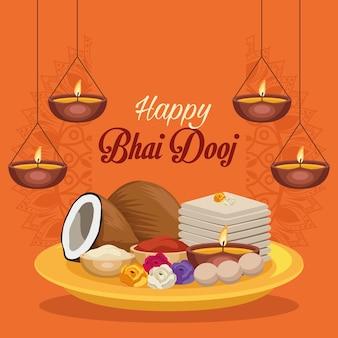 Szczęśliwa pocztówka bhai dooj