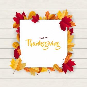Szczęśliwa ramka dziękczynienia