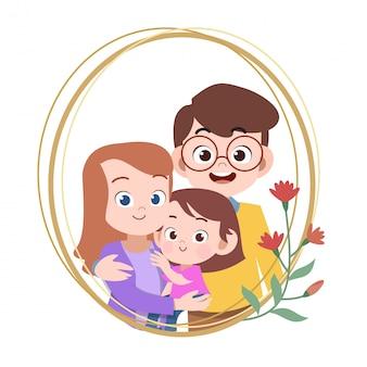 Szczęśliwa rodzina dzień karta pozdrowienie wektor ilustracja
