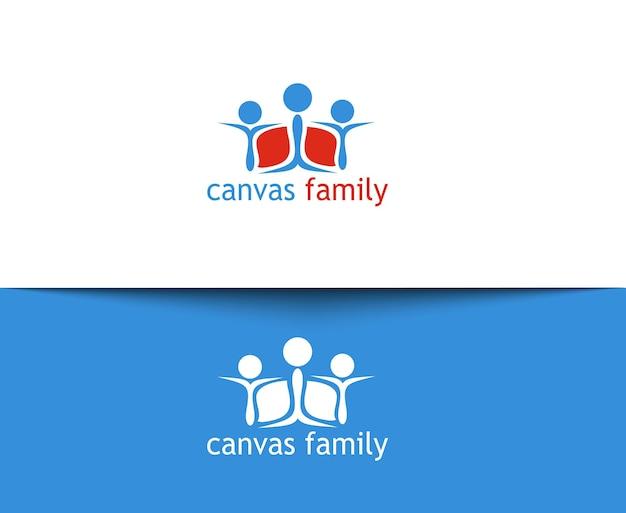 Szczęśliwa rodzina ikony i logo wektor