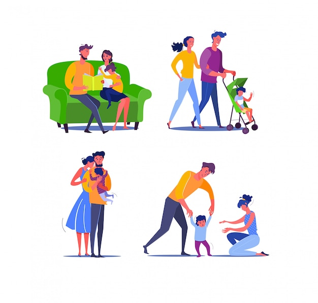 Szczęśliwa rodzina z jednym dzieckiem