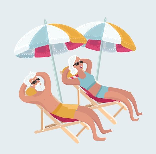 Szczęśliwa romantyczna para ciesząca się pięknym zachodem słońca na plaży