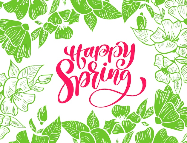 Szczęśliwa wiosna kartkę z życzeniami