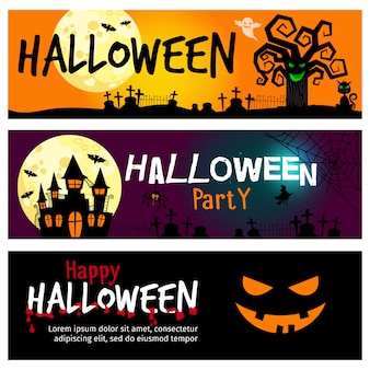 Szczęśliwe banery halloween