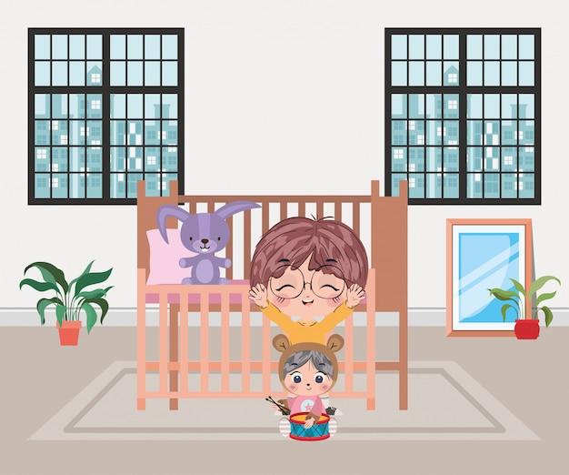 Szczęśliwe chłopiec kreskówki ilustracyjne