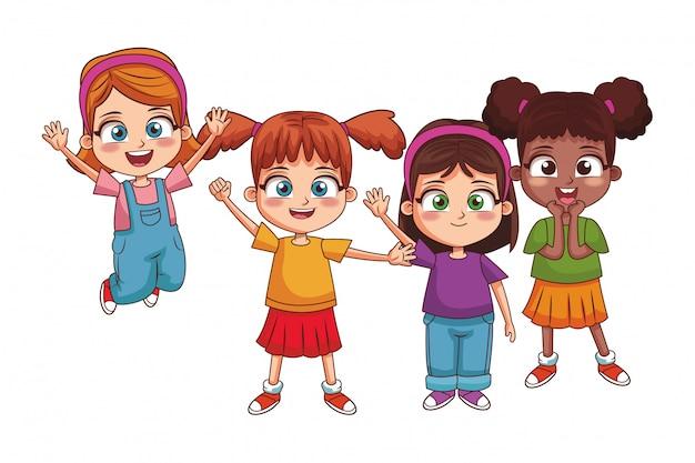 Szczęśliwe dzieci kreskówki
