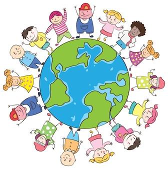 Szczęśliwe dzieci na całym świecie