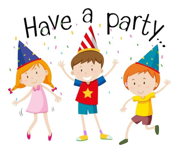 Szczęśliwe dzieci na imprezie