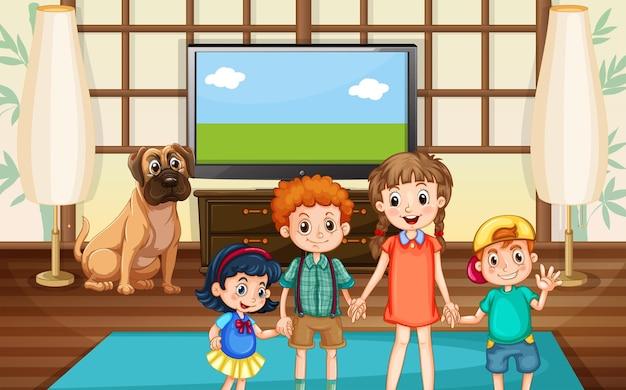 Szczęśliwe dzieci w pokoju