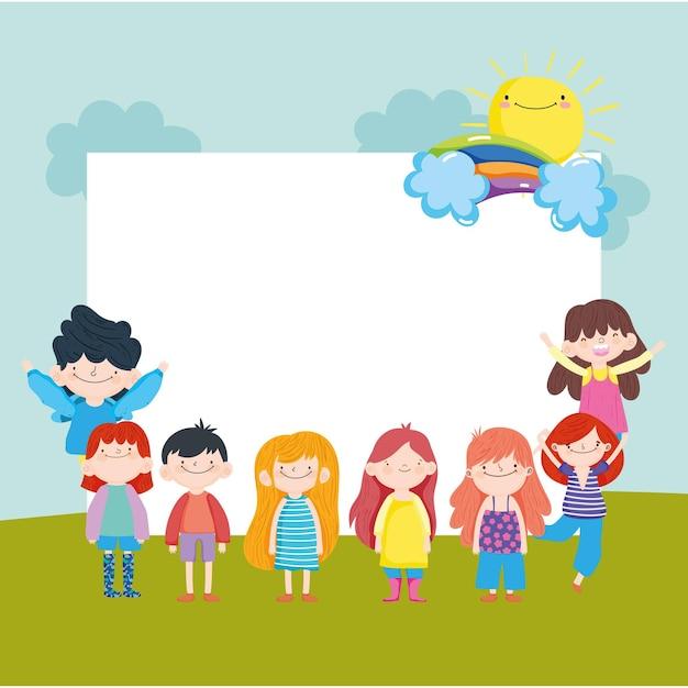 Szczęśliwe dzieci z afiszem