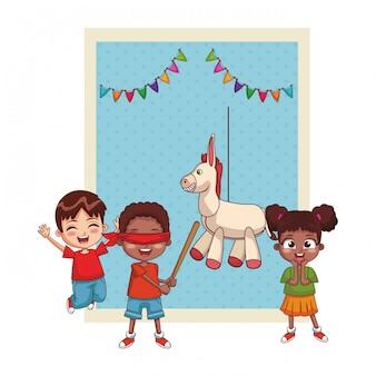 Szczęśliwe dzieci z okazji urodzin