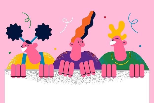 Szczęśliwe dzieciństwo kopia przestrzeń tekst ilustracja