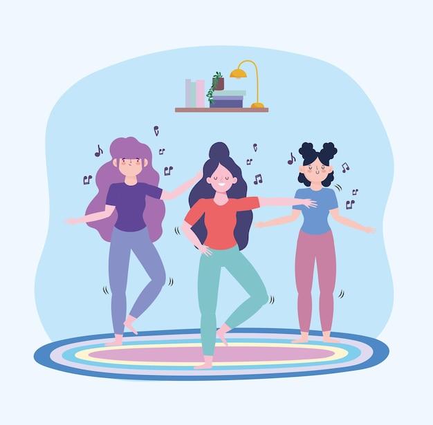 Szczęśliwe dziewczyny tańczą