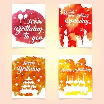 Szczęśliwe karty urodzinowe