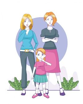 Szczęśliwe kobiety z małej dziewczynki pozycją