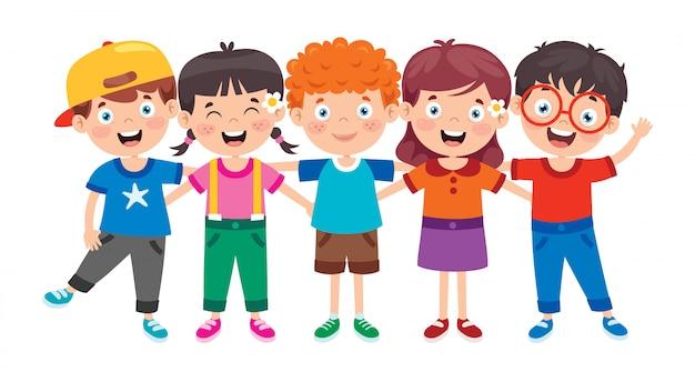Szczęśliwe małe dzieci zabawy