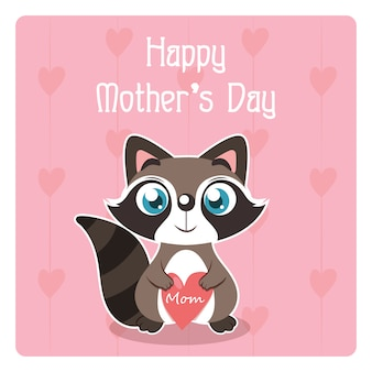 Szczęśliwe matki karta z wiewiórki