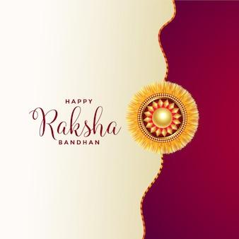 Szczęśliwe powitanie bandhan raksha