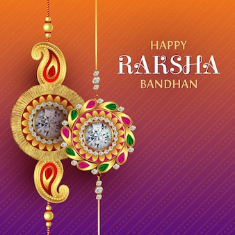 Szczęśliwe powitanie raksha bandhan