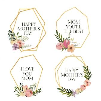 Szczęśliwe ramki na dzień matki