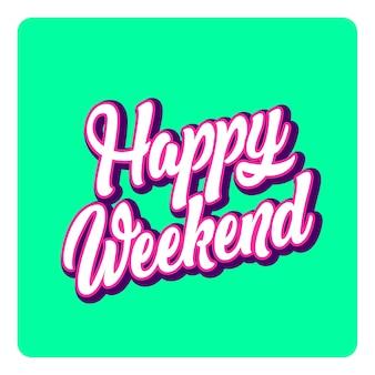 Szczęśliwe słowa literowanie weekendu