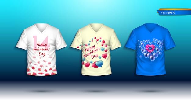 Szczęśliwe t-shirty z okazji walentynek