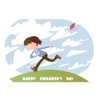 Szczęśliwe tło dla dzieci dzień