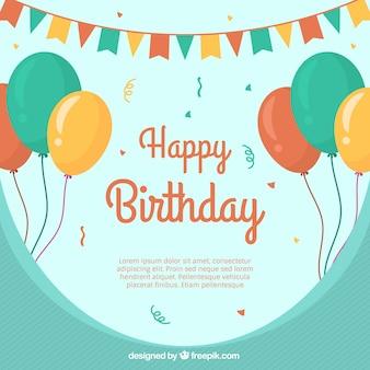 Szczęśliwe tło urodzinowe z balonami