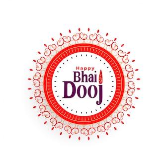 Szczęśliwego bhai dooj piękna ilustracja w hindusa stylu