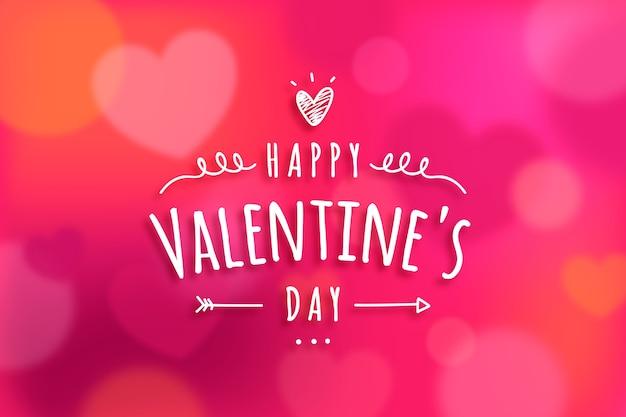 Szczęśliwego bokeh valentine zamazany tło