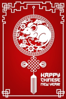 Szczęśliwego chińskiego nowego roku, 2020 szczur