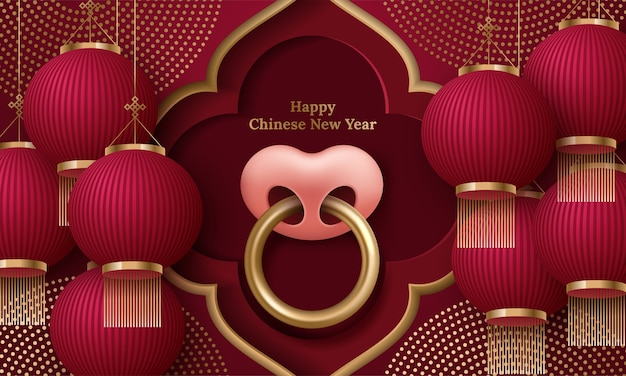 Szczęśliwego chińskiego nowego roku 2021. chińskie tłumaczenie: szczęśliwego nowego roku