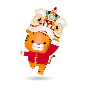 Szczęśliwego chińskiego nowego roku 2022 roku tygrysa