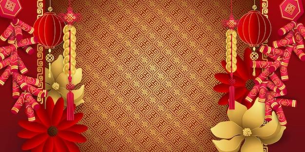 Szczęśliwego chińskiego nowego roku transparent
