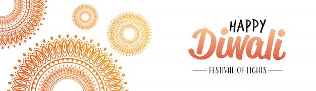 Szczęśliwego diwali tradycyjne indyjskie światła hinduskiego festiwalu uroczystości święto transparent