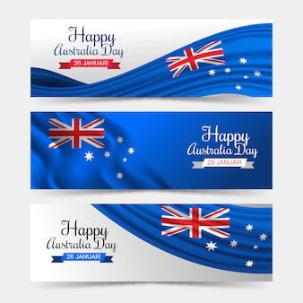 Szczęśliwego dnia banery australii