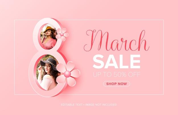 Szczęśliwego dnia kobiet 8 marca wyprzedaż